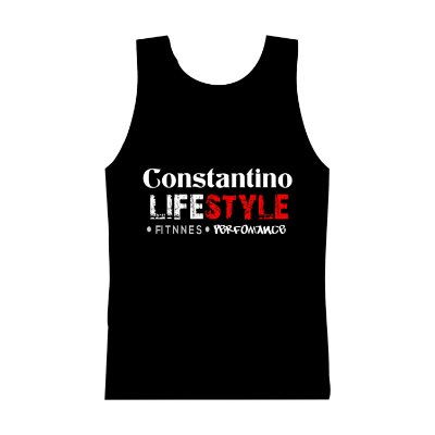 CAMISETA REGATA CONSTANTINO LIFESTYLE FITNESS PERFORMANCE