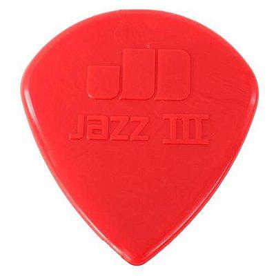 Palheta Nylon Jazz III Vermelha - Dunlop 3786