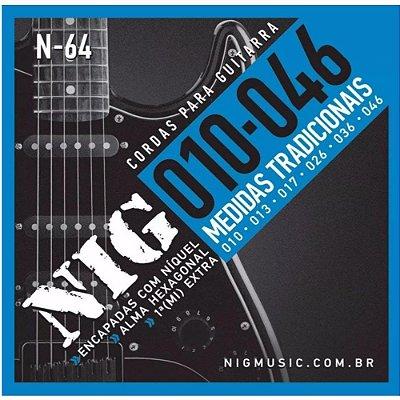 Encordoamento Guitarra 010 N64 - NIG