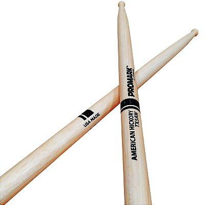 Baqueta 5A ponta de Madeira HICKORY TX5AW - Pro Mark