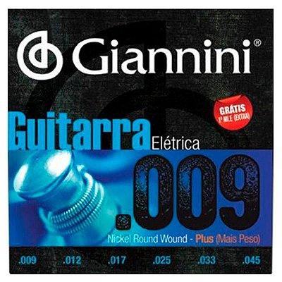 Encordoamento Guitarra 0.09 Hibrida GEEGSTH.9 - Giannini