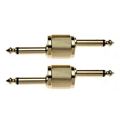 Plug Conector de Pedais P10 / P10 Angulado Blister c/ 2 Unidades - Stagg