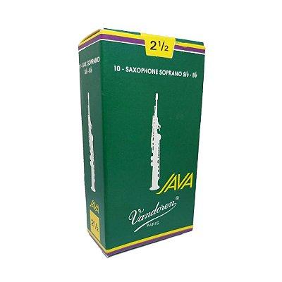 Palheta Sax Soprano Nº 2,5 Java Cx C/ 10 - Vandoren