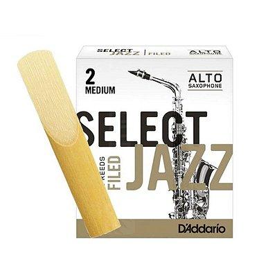 Palheta Sax Alto 2 Série Select Jazz RSF10ASX2S Unidade - Rico Reeds