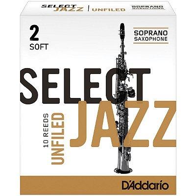 Palheta para Sax Soprano 2 Select Jazz RRS10SSX2S Caixa c/ 10 - D'addario