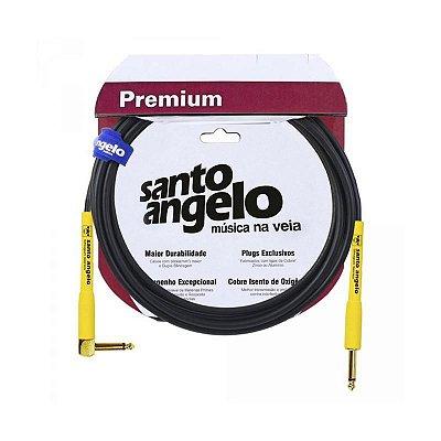 CABO GUITARRA 0,75MM E CONECTORES P10 OURO MOD SHOGUN L 15FT/4.57M - SANTO ANGELO