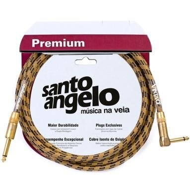 Cabo Guitarra Baixo Violão 0,50mm Textil Conectores P10 Modelo Vintage 15FT 4.57 mt - Santo Angelo