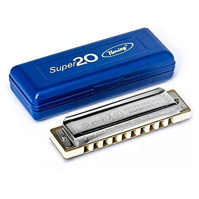 Harmonica Super 20 8020 em A (Lá) HB - Hering