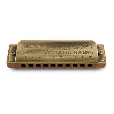Harmonica HB 1923 Corpo de Madeira Vintage Harp 1020B - Hering