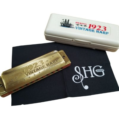 Harmonica Gaita Vintage Harp HB 1923 Corpo de Madeira 1020E em E (Mi) - Hering 2706