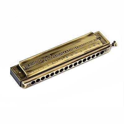 Harmonica Chromatic Antique Gold em Dó 5264C - Hering