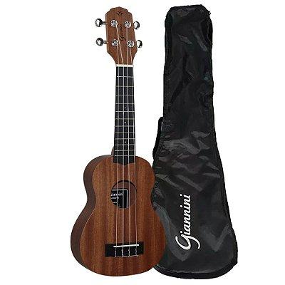 Ukulele Soprano GUK-21 WS SAPELE C/ Bag - Giannini