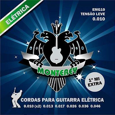 Encordoamento Guitarra 010 EMG10 Com 1ª Mi Extra - Monterey