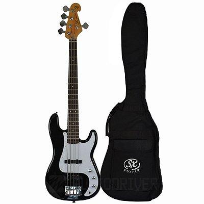 Baixo 5 cordas Precision Bass SPB62+5 C/ Bag BK - SX