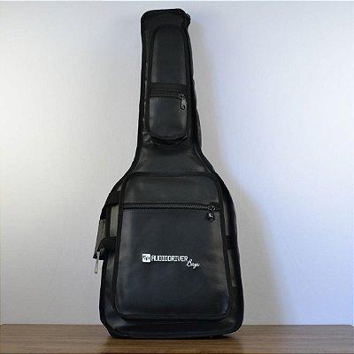 Capa para Guitarra Premium Couro Sintético Preto - Audiodriver
