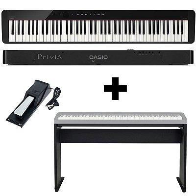 KIT Piano Digital Privia PX-S1000 BK + Móvel + Pedal Sustain - Casio