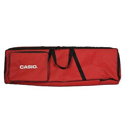 """Capa para Teclado CT-S200/CT-S300 Super Luxo Vermelha """"Bordado Casio"""" - JN"""