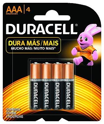 Pilha AAA Pack com 4 MN2400 C/4AAA - Duracell