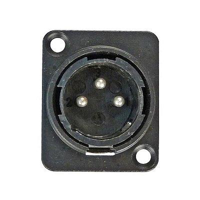 CONECTOR XLR MACHO DE PAINEL - HYX