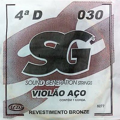Corda Avulsa Violão Aço 4ª RE Encapada Bronze - SG