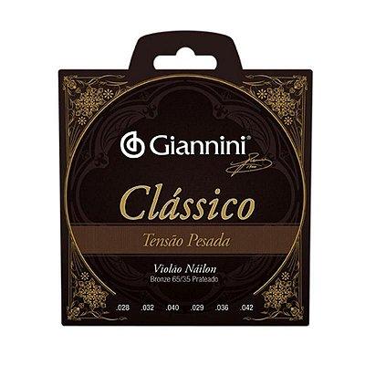 Enc Violão Nylon Tensão Alta 65/35 Prateado Série Clássico GENWPA - Giannini
