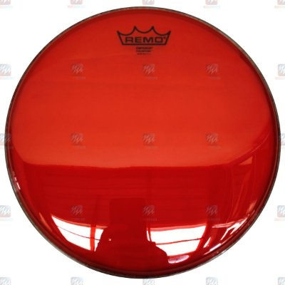 """Pele Colortone Vermelha 16"""" Emperor Transparente BE-0316-CT-RD - Remo"""
