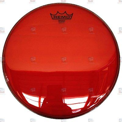"""Pele Colortone Vermelha 12"""" Emperor Transparente BE-0312-CT-RD - Remo"""