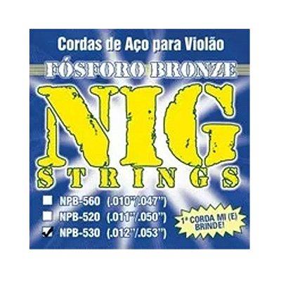 Encordoamento Violão Aço 0.12 NPB530 - NIG