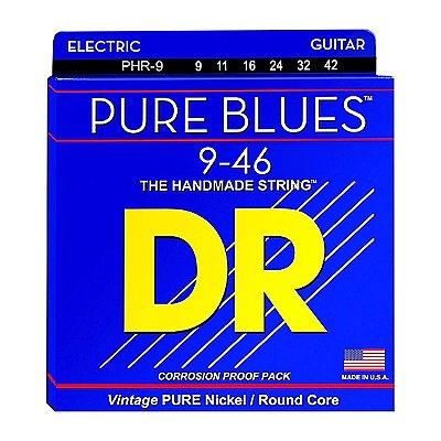 Encordoamento Guitarra 009 PHR-9 Pure Blues Pure Nickel Electric - DR
