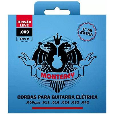Encordoamento Guitarra 009 EMG9 Com 1ª Mi Extra - Monterey