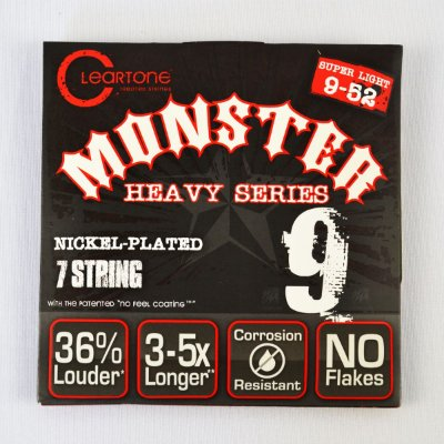 Encordoamento Guitarra 7 Cordas 9-52 Monster Heavy - Cleartone