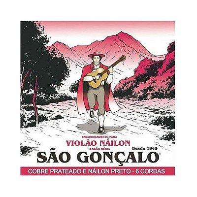 Encordoamento para Violão Nylon Preto - São Gonçalo