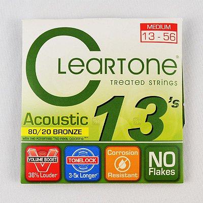 Encordoamento Violão 013-56 Bronze 80/20 Medium - Cleartone