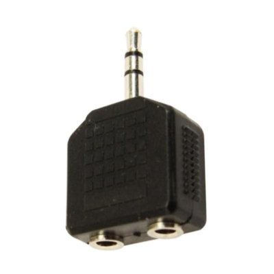 Adaptador 2 P2 stéreo x P2 stéreo Niquelado - HYX 11663