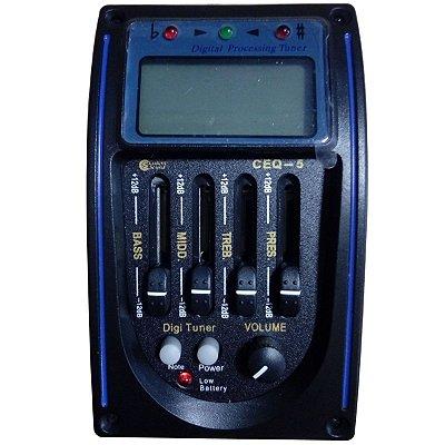 Pré Equalizador para Violão c/ Afinador CEQ 5 - Custom Sound