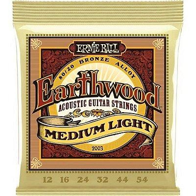 Encordoamento Ernie Ball Violão 012-054 Earthwood 80/20 P02003