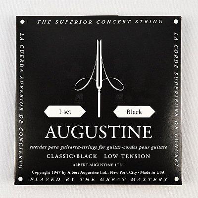 Encordoamento Violão Nylon Black Tensão Leve Bordões / Alta Primeiras - Augustine