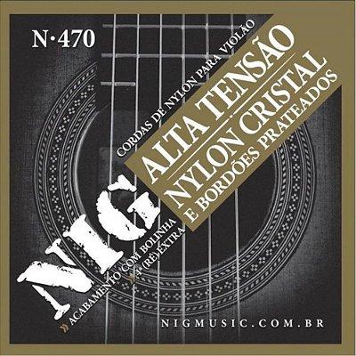 Encordoamento Violão Nylon Tensão Alta N470 C/ Bolinha - NIG