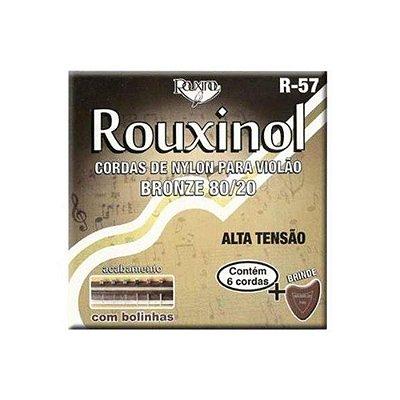 Encordoamento Violão Nylon/Bronze Tensão Alta R57 C/ Bolinha - Rouxinol
