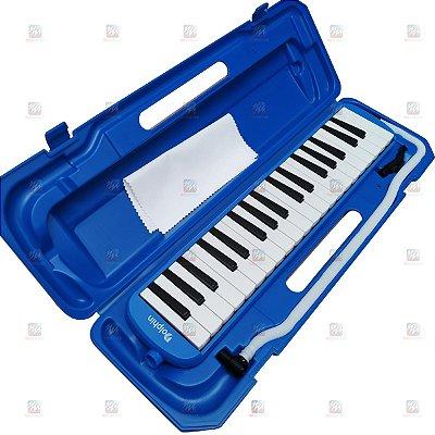 Escaleta 37 Teclas com Case Azul - Dolphin