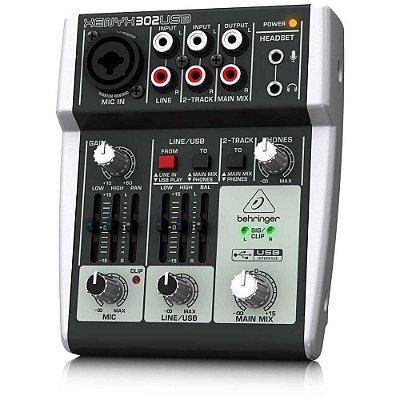 Mixer Mesa de Som 3 Entradas Xenyx 302USB com Interface USB - Behringer