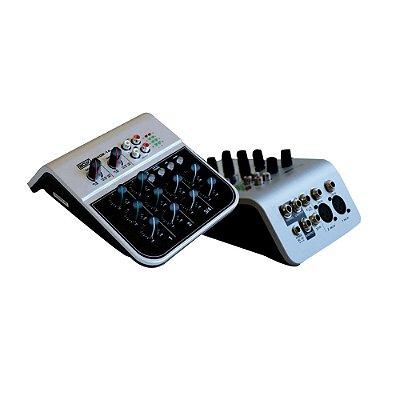 Mixer Mesa de Som 4 Canais MIX 02 1A - Boxx