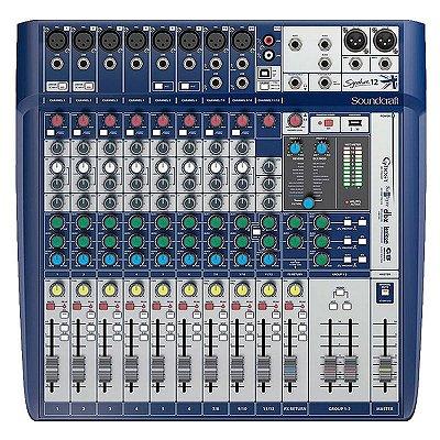 Mixer Mesa de Som Signature 12 - Soundcraft