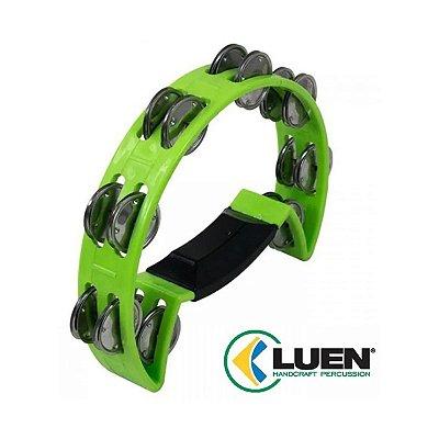 Pandeirola Meia Lua ABS Platinela Inox Com pegador Verde 40070VD - Luen