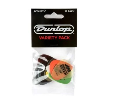 Palheta Variety Pack Sortidas C/12 un PVP112 - Dunlop