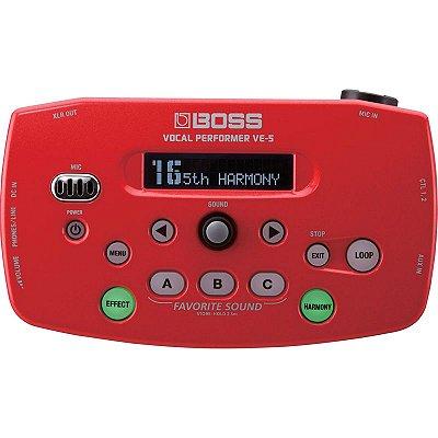 Pedal Para Voz VE5 Vermelho Processador Módulo de Efeito VE-5 Red- Boss