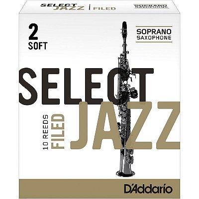 Palheta Sax Alto Nº 2 RSF10ASX2S (Caixa 10 Un) - Rico Select Jazz