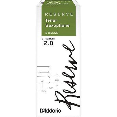 Palheta Sax Tenor Nº 2 DKR0520 (Caixa 5 Un) - Rico Reserve