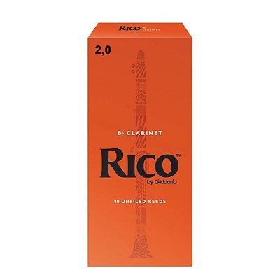 Palheta para Clarinete 2,0 RCB1020 Caixa com 10 Unidades - Rico