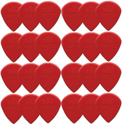 Palheta Nylon Jazz III Vermelha 47R3N *PACOTE C/ 24 UN* - Dunlop